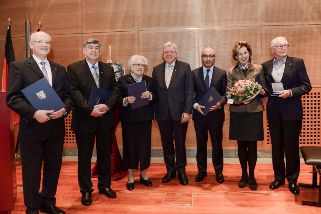 Verleihung der Georg August Zinn-Medaille. Foto: Hessische Staatskanzlei