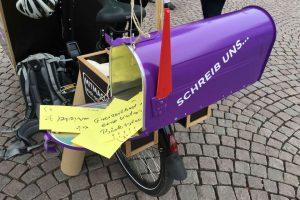 Wiesbadens Dialog-Mobil samelt Ideen von Bürgern. Bild: Wiuesbaden 2030+