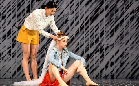 """Sommernachtstraum"", im Bild Miyuki Shimizu und Ezra Houben. Foto: Regina Broke"