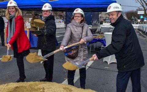 Spatensticht zur Vorplatzgestaltung des neuen Rhein Main Congress Centrum. Foto_ Volker Watschounek