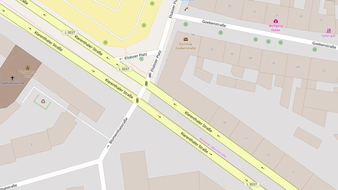 Essässer Platz … Bild: Open Street