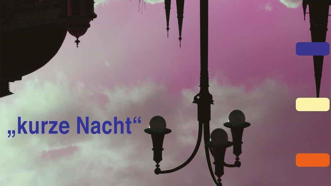 Plakat zur kurzen Nacht der Museen und Galerien in Wiesbaden.