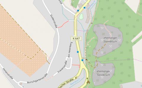 Wiesbaden Rambach, Rambacher Straße. Bild: Open Street