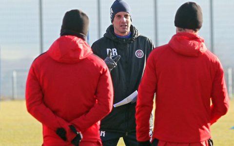 Traineransprsche vor dem Spiel gegen VfL Osnabrück. Archivbild: Severing / SVWW