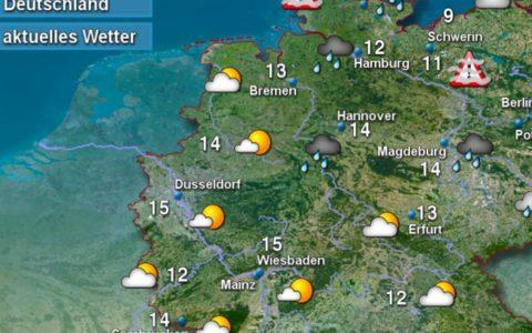 Wetter für Deutschland, Wetter für Wiesbaden. Bild: DWD