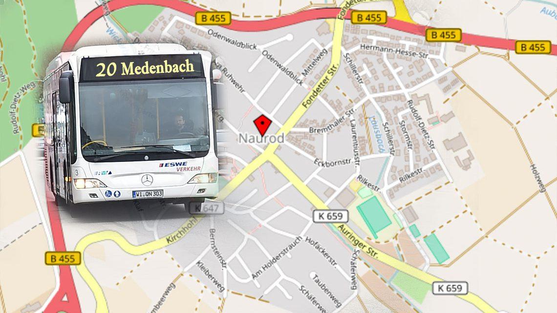 Busumleitung der Linie 20 wegen des traditionellen Äppelblütefestes. Bild: Open Street / Volker Watschounek
