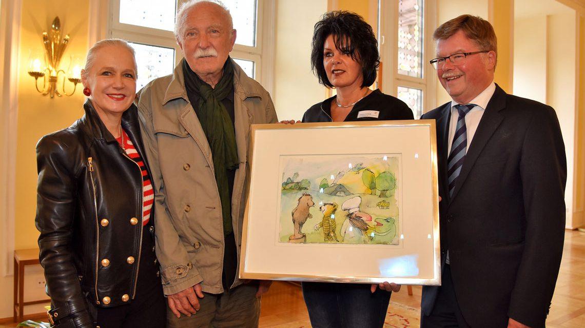 Eine Tigerente fürs Gästebuch der Stadt Wiesbaden
