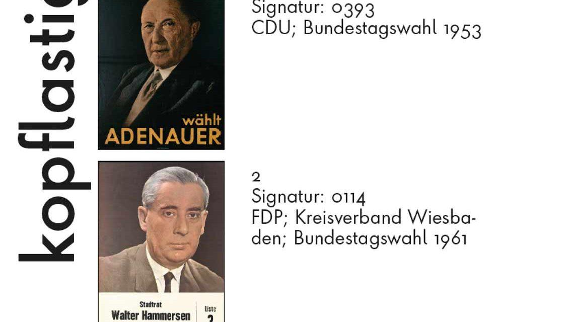Konrad Adenauer führte den CDU-Wahlkapf 1953. Er war der Kopf der Partei und danach ... Bild: Stadtarchiv