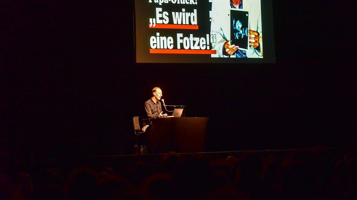 Martin Sonneborn im Schlachthof. Bild: Wiesbaden-lebt!