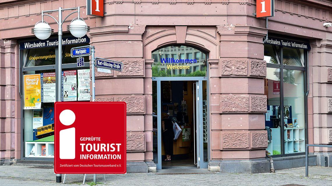 Touristinformation Wiesbaden zertifiziert. Bild: Volker Watschounek