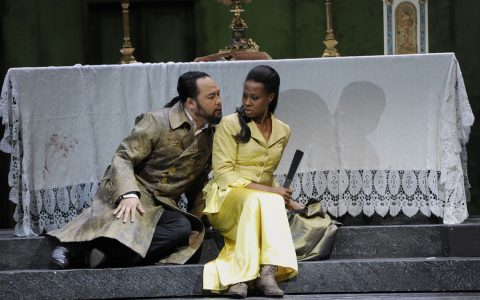 """Samuel Youn, Adina Aaron in """"Tosca"""" von Puccini. Bild: Kaufhold"""