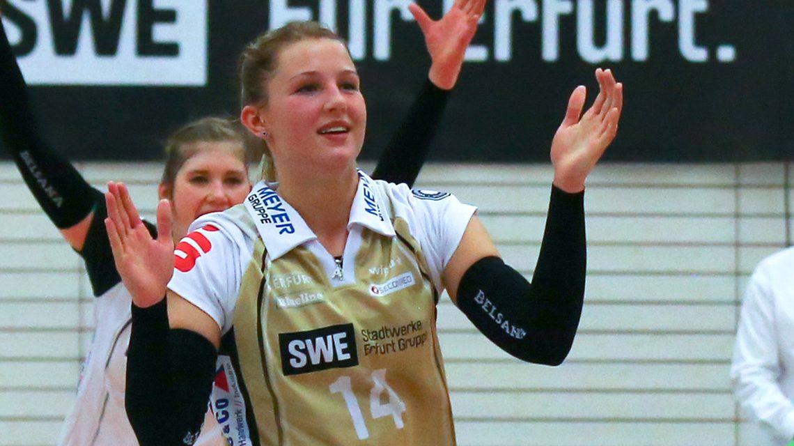 Libera Lisa Stock wechselt von Schwarz-Weiß Erfurt zu Wiesbadens Bundesliga-Volleyballerinnen. Bild: Detlef Gottwald