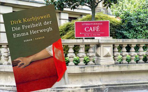 Buchvorstellung mit Dirk Kurbjuweit im Literaturhaus Wiesbaden. Bild: Hanser Verlag / Volker Watschoiunek