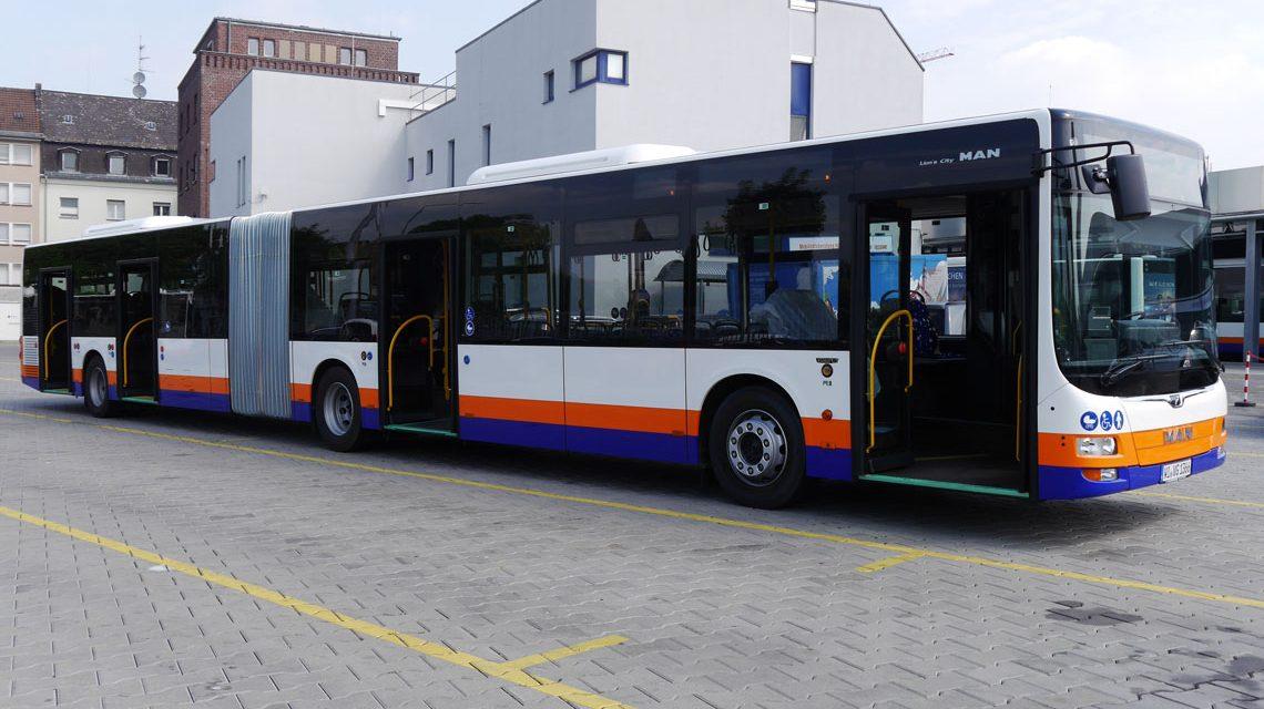 """Der neue bei ESWE-Verkehr """"Evobus Lion's City GL"""" Bild: ESWE Verkehr"""