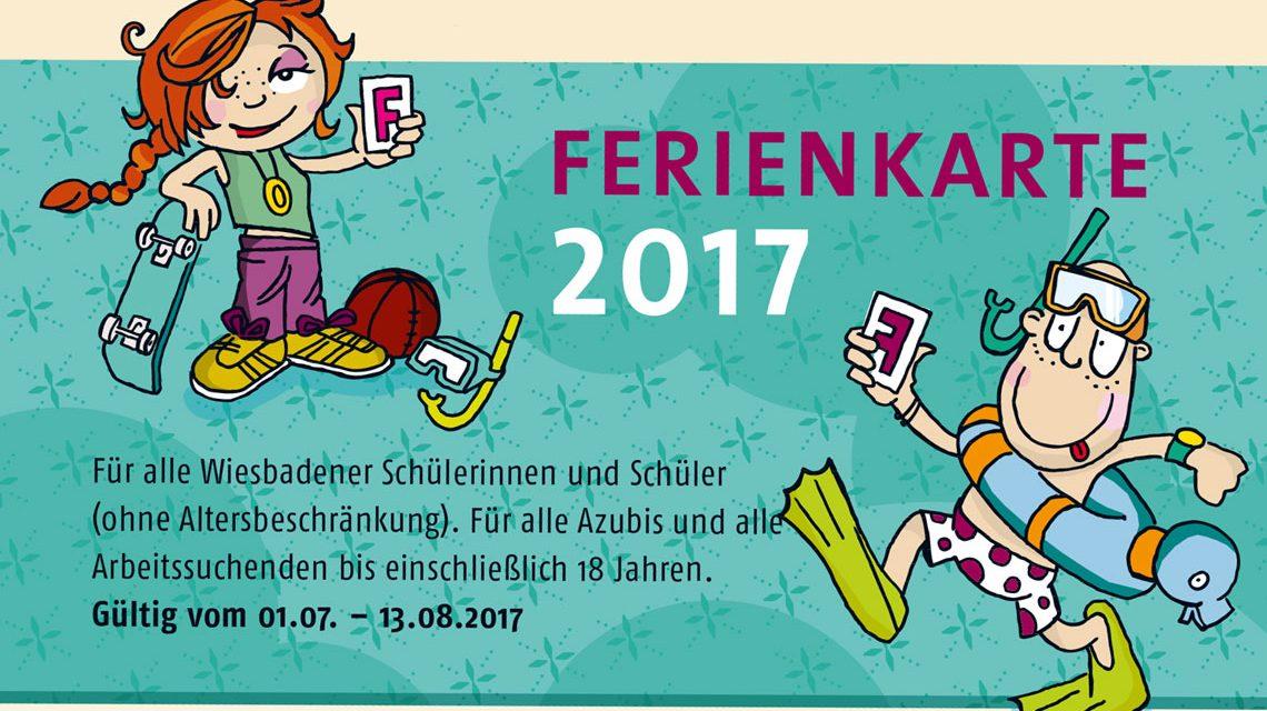 Mit der Ferienkarte 2017 Bus und Bahn fahren und viele Veranstaltungen genießen. Bild: Stadt Wiesbaden