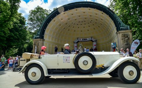 Der Rolls Royce Phantom I aus dem Jahr 1928 beim Concour d'Elegance im Kurpark Wiesbaden. Bild: Volker Watschounek