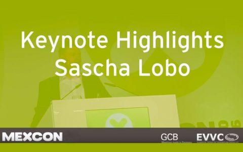 Keynote von Sascha Lobo bei der Mexcon 2016. Bild: Frame aus Video