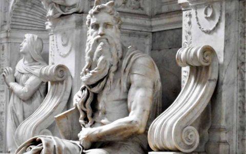 Moses von Michelangelo in der San Pietro Kirche in Rom. Bild: Flickr / CC-BY / Carlo Raso