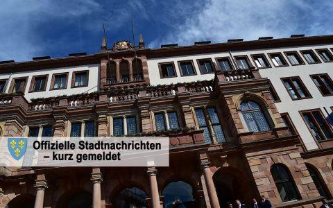 Kurznachrichten aus dem Rathaus - etwa, wenn der Ortsbeirat ... tagt. Bild: ©2017-06 Volker Watschounek