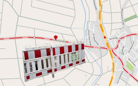 Die Susannastraße zwischen Bierstadt und Igstadt wird rundum erneuert. Bild: OPentext / Volker Watschounek