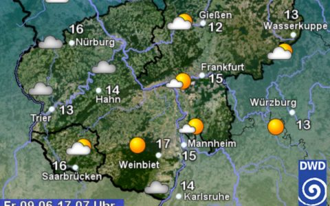 Wetterkarte vom DWD