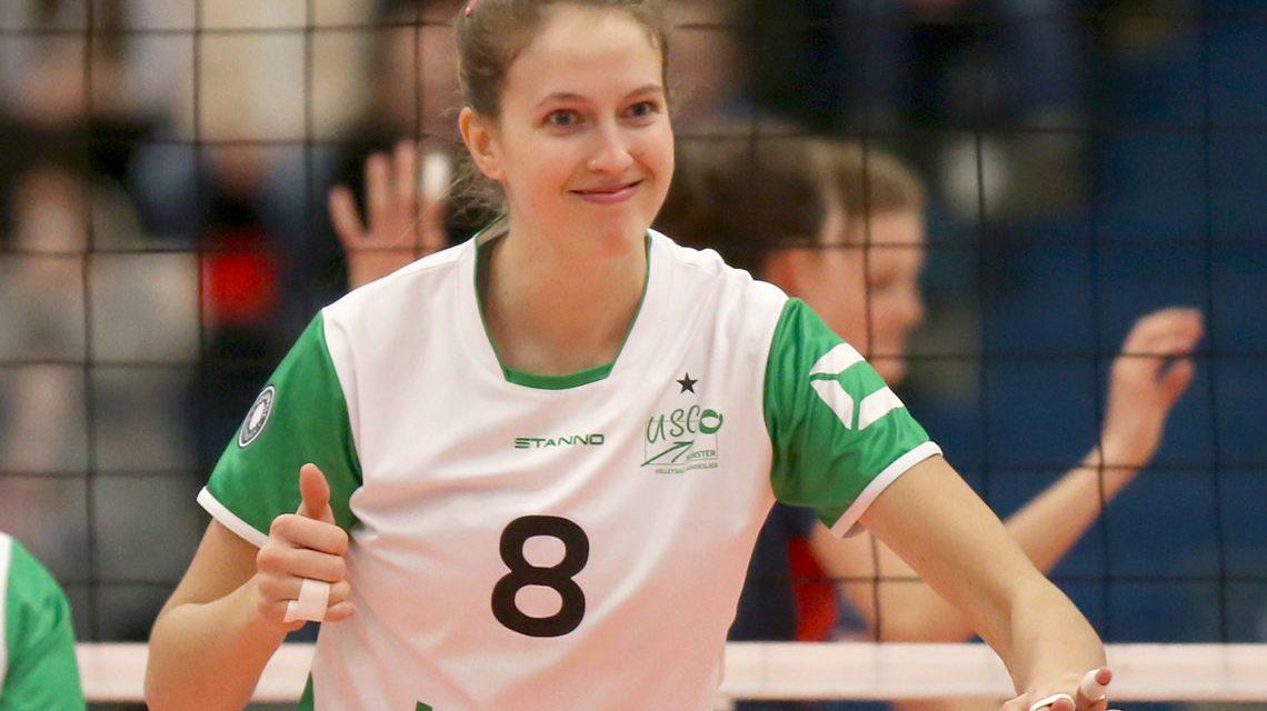 Jennifer Keddy, eine Saison im Dienste von USC Münster kommt nach Wiesbaden. Bild: Detlef Gottwald