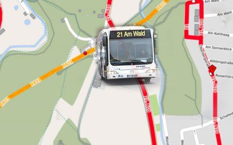 Busumleitung an der Oberbergstraße in Wiesbaden Auringen. Bild: Volker Watschounek