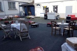 Luisenhof ... alles steht, ist vorbereitet, wartet auf die ersten Gäste. Bild: Maximilian Illig