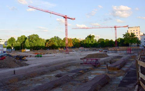 Großbaustelle in Wiesbaden. Hier entsteht das RMCC. Archivbild: Volker Watschounek (2015)