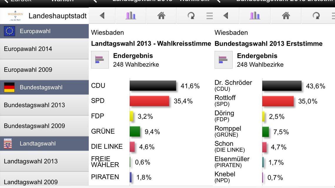 Die Bundestagswahl 2017 online verfolgen ... Bild: Volker Watschounek / App – Bundesvortal