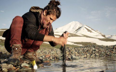 Die Welt zu umrunden ist ganz schön weit: Waschen in 3.000 Meter Höhe. Bild: Veranstalter