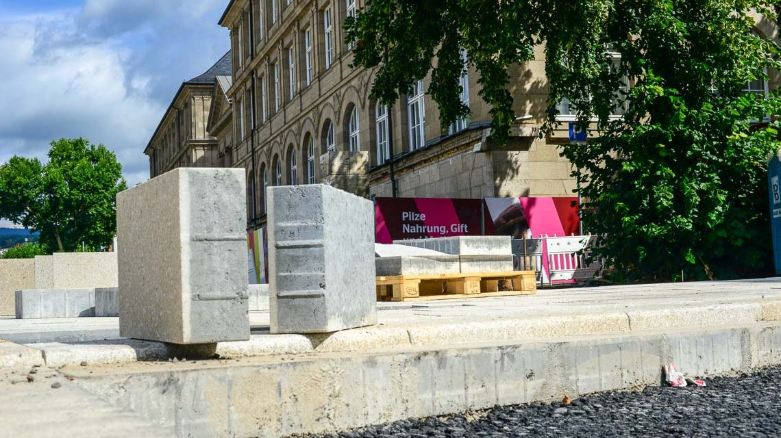 Wiesbadens Museumsvorplatz im Plan