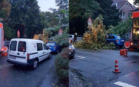 Gewitterfront sorgt im ganzen Stadtgebiet von Wiesbaden für Chaos. Bild: Leserfoto, Alfons