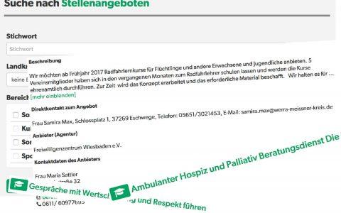 Neues Kleid für Ehrenamt-Suchmaschine. Bild: Land Hessen / Volker Watschoiunek