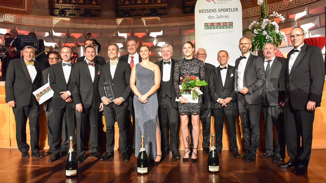 Hessens Sportler des Jahres 2017, Preisverleihung im Rahmen der 16. Olympischen Ballnacht. Bild: Landessportbund Hessen