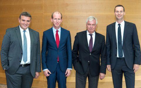 Jörg Höhler, Michael Reichel, Dr. Thomas Hüwener, Dr. Dirk Haider Bild: DVGW