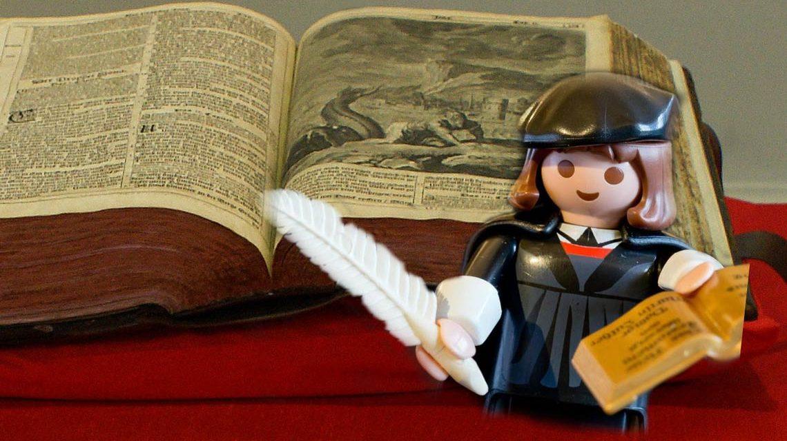 Martin Luther, in echt wie in kleine ein ganhz großer. Bild: Flickr / Awaya Legends / Volker Watschounek