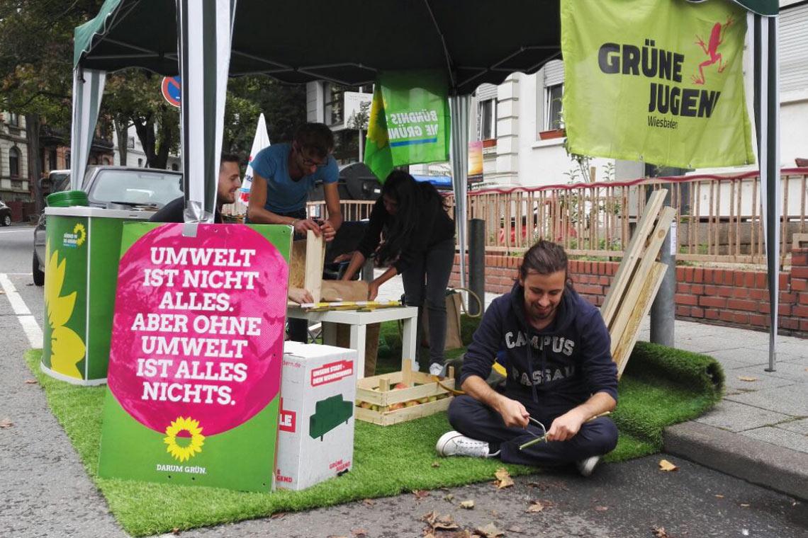 Parkin Day Grune Jugend Wiesbaden Besetzt Parkplatz Wiesbaden Lebt