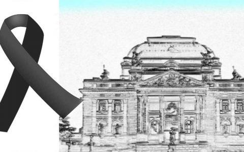 Trauerschleife ... Staatstheater Wiesbaden