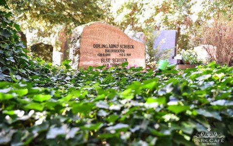 Grabmahl auf dem Siebfriedhof. Bild: Volker Watschounek