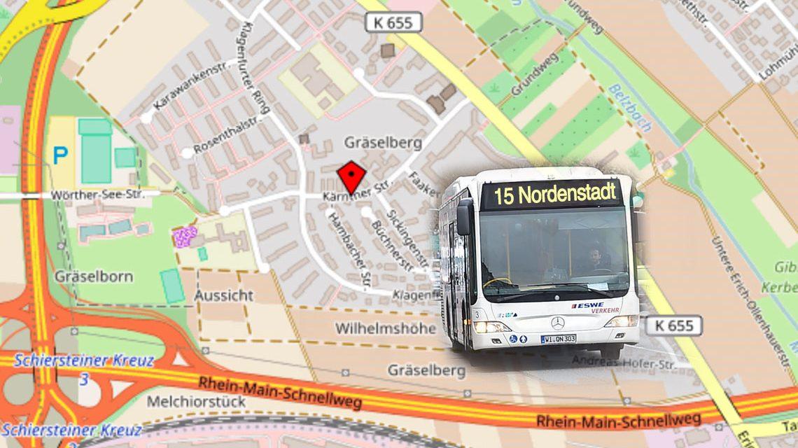 Busumleitung wegen Baumaßnahmen in der Kärntner Straße. Bild: Openstreet