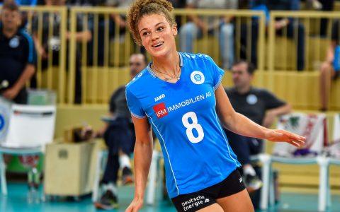 Neuzugang Kimberly Drewniok ist Wiesbadens Topscorerin gegen Suhl Bild: Volker Watschounek