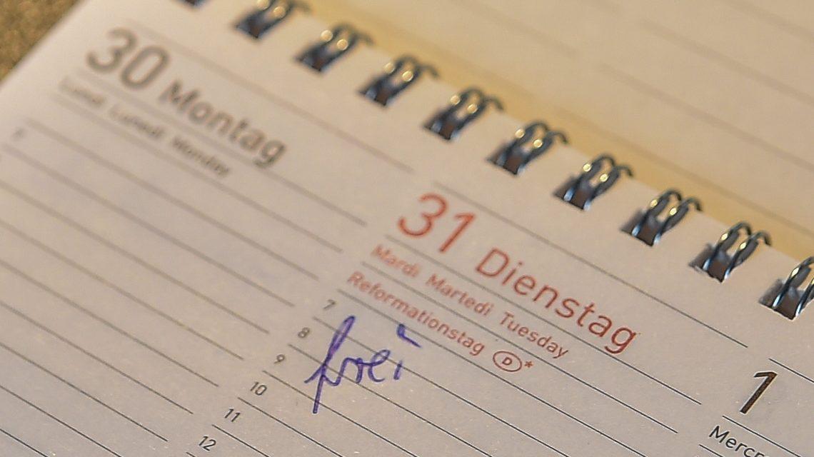 Reformationstag, der 31. Oktober 2017 ist bundesweiter Feiertag. Bild:@2017 Volker Watschounek