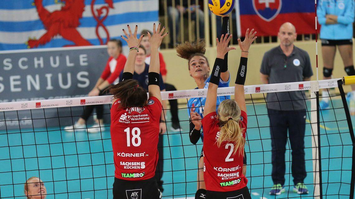 VC Wiesbaden verliert gegen einen starken Dresdner SC