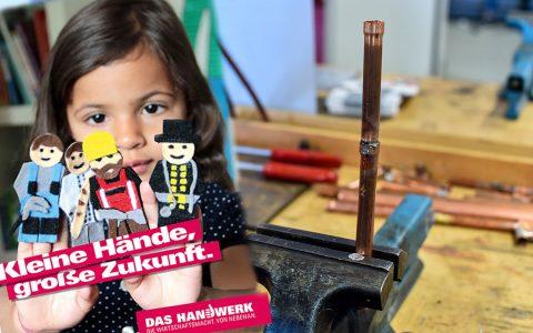 Kindergärten besuchen einen Handwerksbetrieb vor Ort oder laden einen Handwerker in ihre(n) Kindertagesstätte/ Kindergarten ein. Bild: Handwerkskammer / Volker Watschounek
