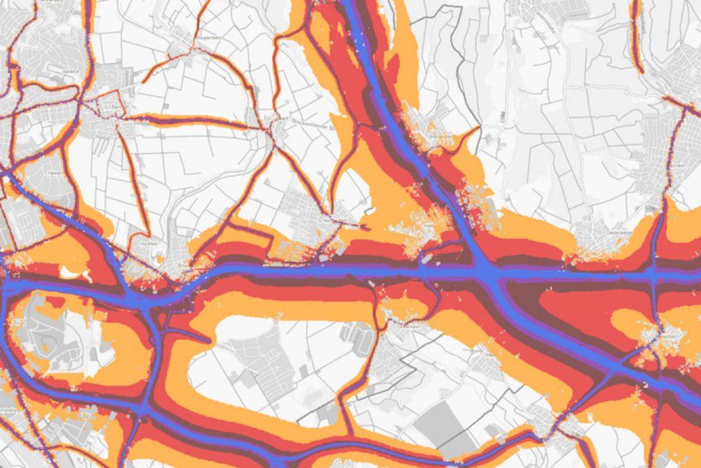 Umgebungslärmkaertierung des Hessischen Landesamts für Naturschutz, Umwelt und Geologie ©2017 HLNUG