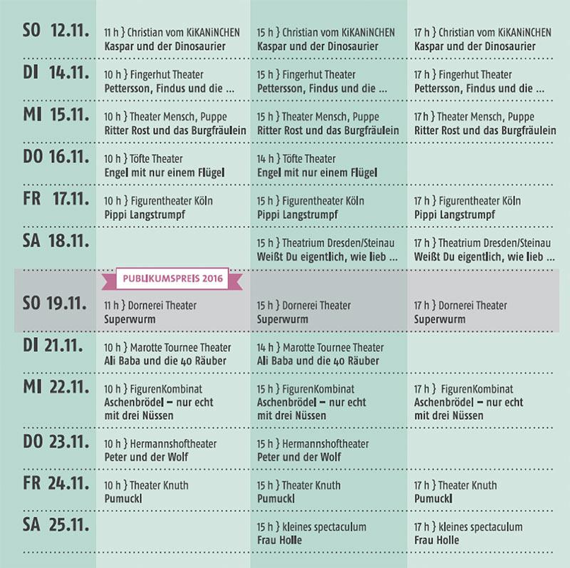 Programm des 41. Wiesbadener Puppenspiel Festivals. ©2017 Stadt Wiesbaden