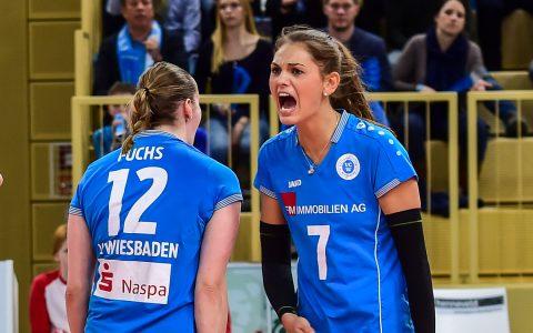 Annalena Mach – VBL Frauen | 1. Bundesliga | VC Wiesbaden : Allianz MTV Stuttgart | 1:3 | 2. Deztember 2017 ©2017 Volker Watschounek