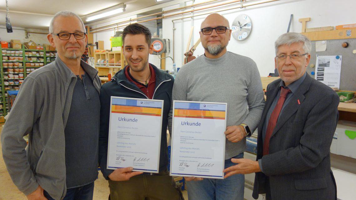 v.l.n.r: Wolfgang Christ, Cornelius Becker, Harald Holtmann, Bernhard Mundschenk ©2017 Handwerkskammer