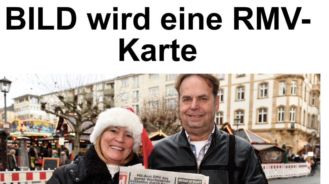 Wer die Bild-Frankfurt im Abo bezieht, ist klar im Vorteil. Für 90 Cent zwei Tage Bus und Bahn fahren. ©2017 Bild-Zeitung / Volker Watschounek